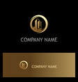 building cityscape gold company logo vector image vector image
