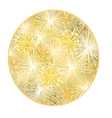 Button circular New Year fireworks gold background vector image vector image