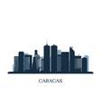 caracas skyline monochrome silhouette vector image vector image