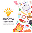 childrens education and 1 september back to school vector image vector image