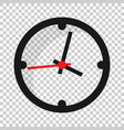 clock sign icon in transparent style time vector image vector image