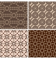 Coffee seamless patterns set 2 vector image vector image