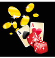 coins and dice vector image vector image