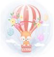 cute fox and air balloon vector image