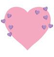 cute hearts design vector image
