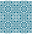 Elegant blue and white pattern vector image vector image