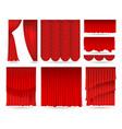 elegant red curtains vector image