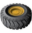 engineering vehicles wheel vector image vector image