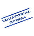Equatorial Guinea Watermark Stamp vector image vector image