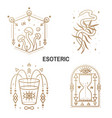 esoteric symbols thin line geometric badge vector image vector image