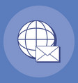 global sphere design vector image vector image