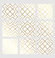 golden abstract geometric seamless pattern tile vector image vector image