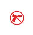 gun symbol templates vector image