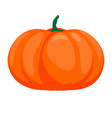 halloween isolated pumpkin in autumn dall vector image
