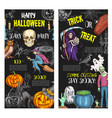 halloween trick or treat party posters vector image vector image