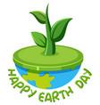 happy earth day logo vector image