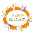 happy halloween cute card vector image vector image