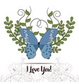 happy mothers day card with butterflies and vector image vector image