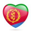 Heart icon of Eritrea vector image vector image