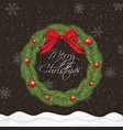 holiday greeting card vector image