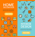 home decor signs banner vecrtical set vector image