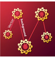 industrial red background vector image vector image