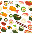 japanese national cuisine dishes and meal seamless vector image vector image