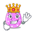 king color the easter eggs isolated mascot vector image