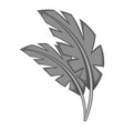 leaves icon monochrome vector image vector image