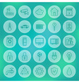 Line Circle Smart House Icons Set vector image vector image
