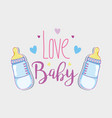 love baby card vector image