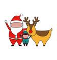 merry christmas celebration vector image