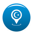 mosque map pointer icon blue vector image vector image