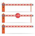 parking car barrier gate set vector image