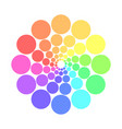 partly transparent rainbow spectrum color circles vector image vector image