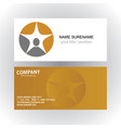people star succes logobusiness card vector image vector image