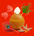 pongal hindu harvest festival in india and sri vector image vector image