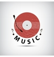 retro vinyl music logo icon vector image