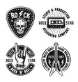 rock n roll music vintage emblems labels badges vector image vector image