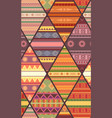 seamless tribal pattern with native patterns vector image vector image