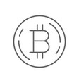 simple bitcoin thin line symbol icon design vector image