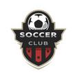 soccer club sport logo vector image vector image