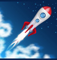 space rocket take off science spaceship launch vector image