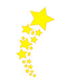 stars star design yellow vector image