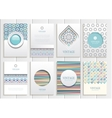 Stock set of brochures in vintage style vector image vector image