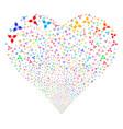 stomatology fireworks heart vector image vector image