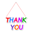 Thank plate isolated on white background vector image vector image