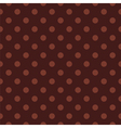 Tile polka dots pattern with brown background vector image vector image