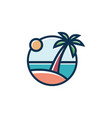 tropical beach sunset landscape premium vector image