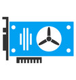 videocard flat icon vector image vector image